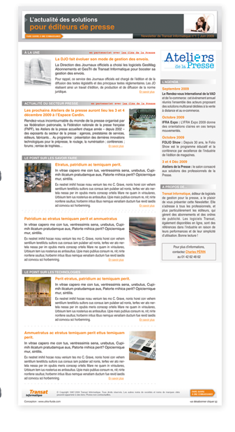 Transat newsletter UltraFluide